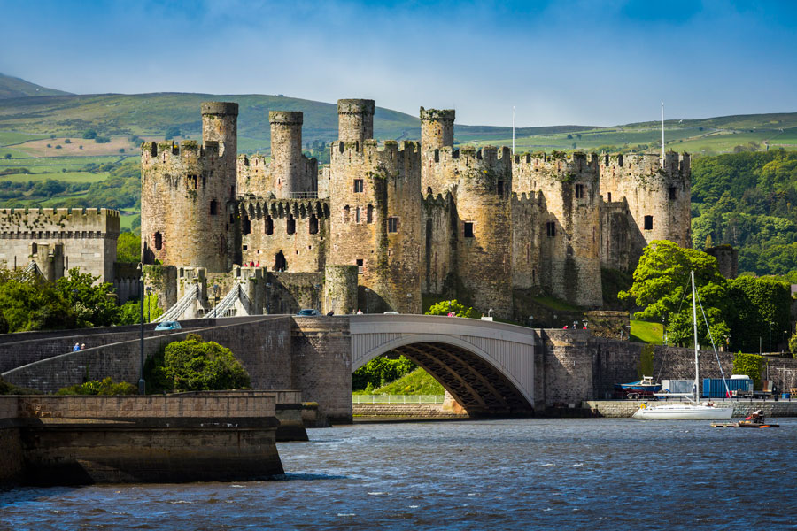 Conwy Castle (sometimes spelt Conway Castle) is the medieval military maste...