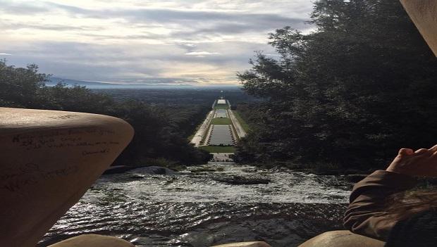 Il torrione in cima alla cascata