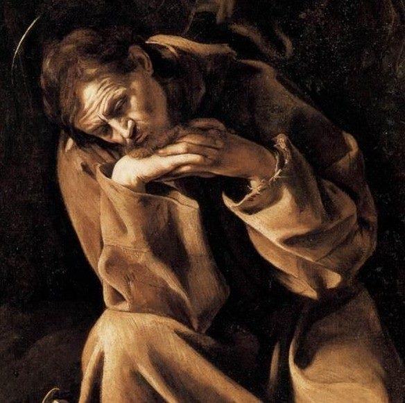 cremona-e-caravaggio-san-francesco-in-meditazione