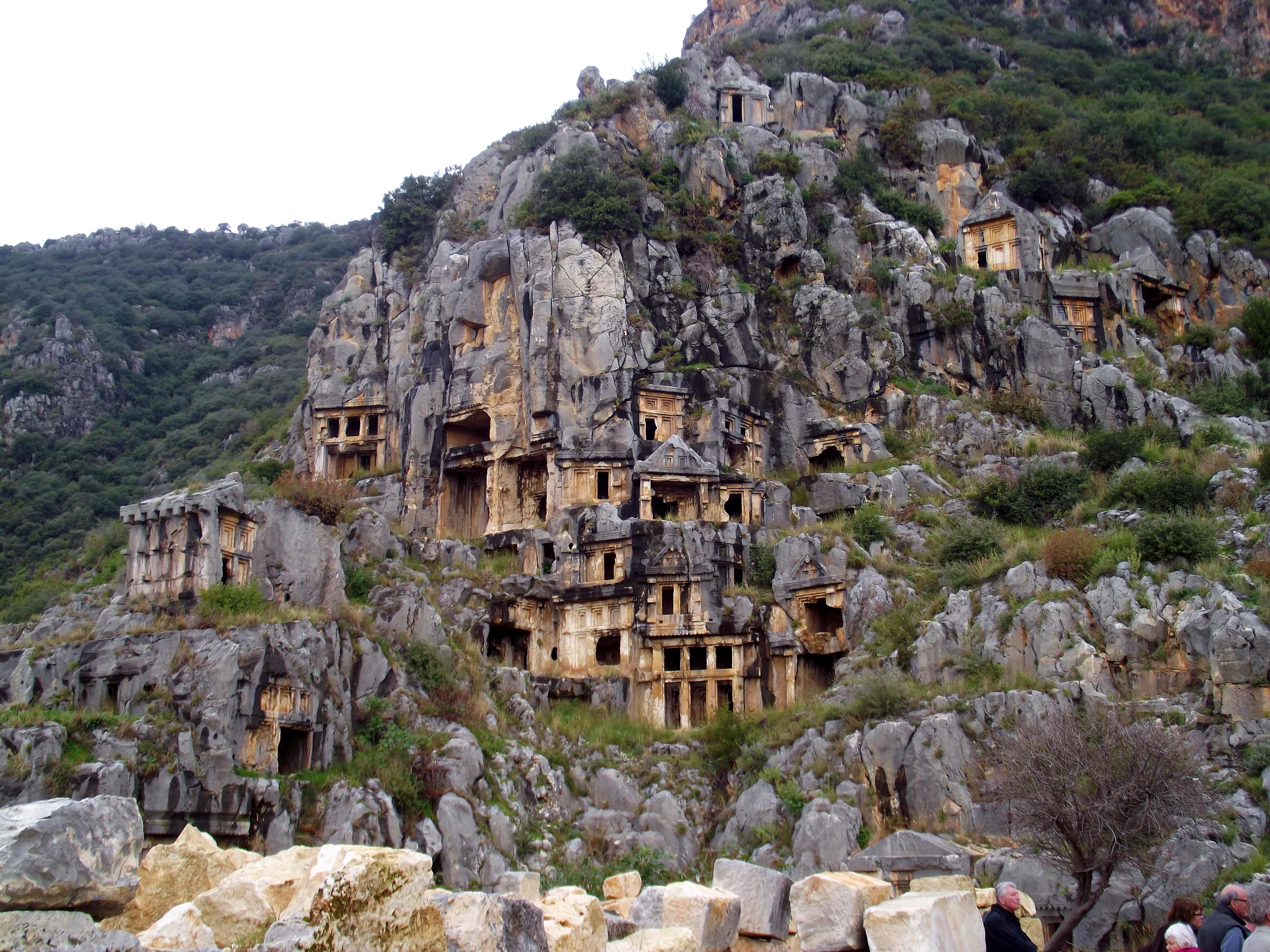 rock-tombs-in-myra-secret-world